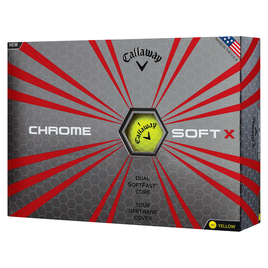 CALLAWAY CHROME SOFT X - yellow