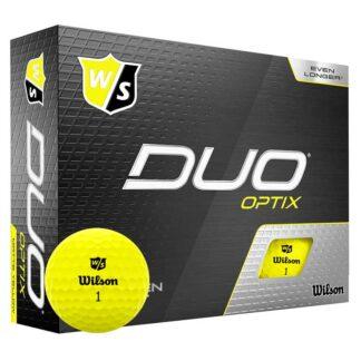 Wilson Staff DUO Optix Yellow logo golfballen