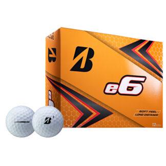Bridgestone e6 logo golfballen