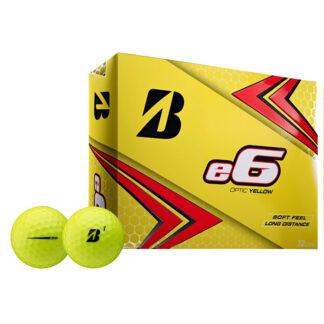 Bridgestone e6 yellow logo golfballen