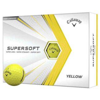 Callaway Supersoft Yellow logo golfballen