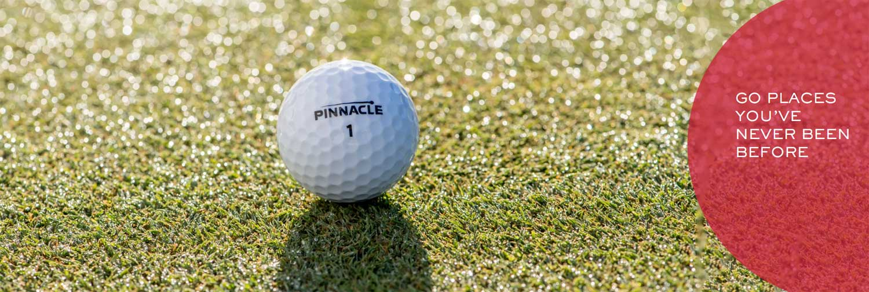 Pinnacle logo golfballen