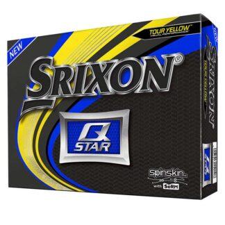 Srixon Q-Star Yellow logo golfballen