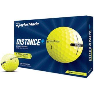 TaylorMade Distance+ Yellow logo golfballen