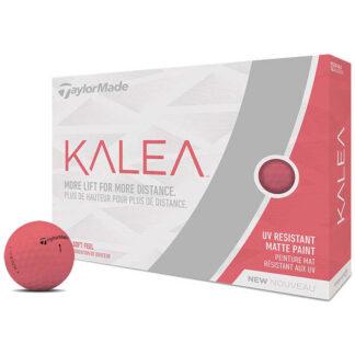 TaylorMade Kalea Matte Peach logo golfballen