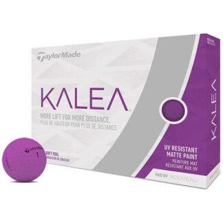 TaylorMade Kalea Matte Purple logo golfballen