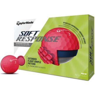 TaylorMade Soft Response red logo golfballen