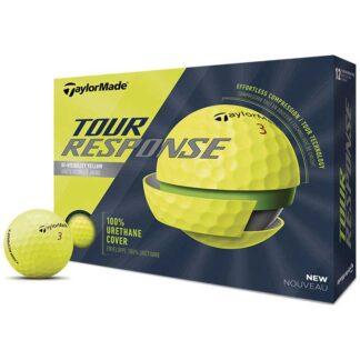 TaylorMade Tour Response Yellow logo golfballen