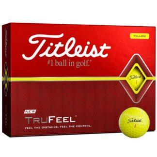 Titleist TruFeel Yellow logo golfballen