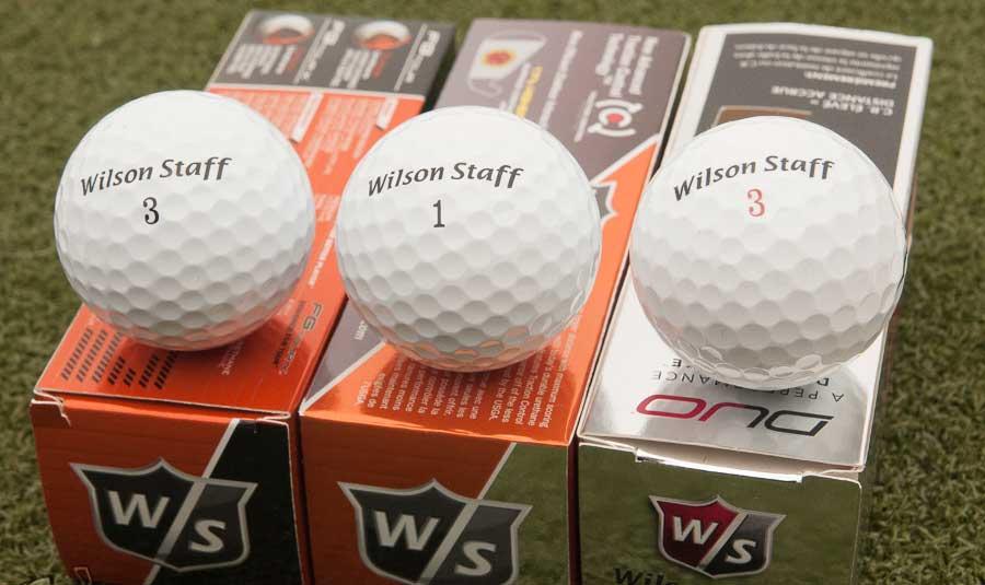 Wilson bedrukte golfballen