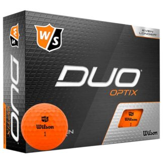 Wilson Staff DUO Optix Orange logo golfballen