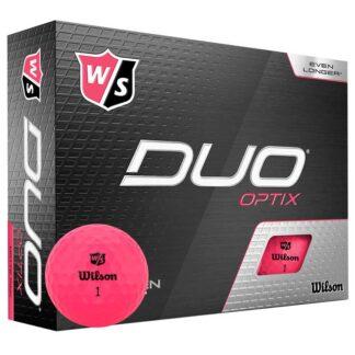Wilson Staff DUO Optix Pink logo golfballen