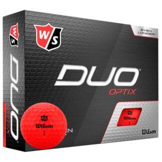 Wilson Staff DUO Optix Red logo golfballen